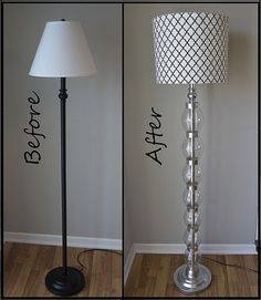 DIY lamp make-over with plastic soda bottles! thebudgetdecorator.com