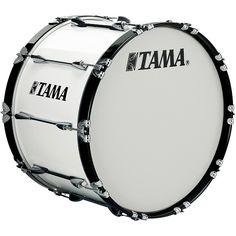 Tama Marching 22 x 14 in. Starlight Marching Bass Drum Sugar White