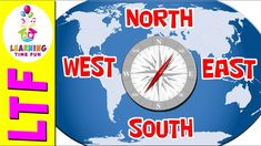 North South East West   Cardinal Directions   Geography for Kids   Geogr...