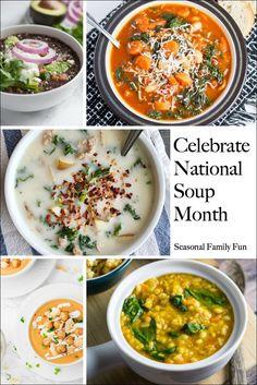 Recipes For National Soup Month #soup #souprecipes #soupmonth
