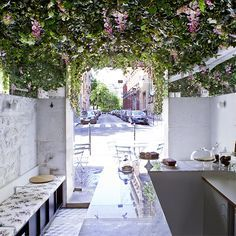 flower cafe interiors - Google Search