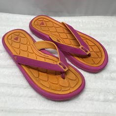 43a7e666 adidas Shoes   Free With Purchase Adidas Flip Flops   Color: Orange/Pink