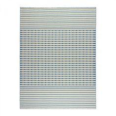 IKEA+TJAREBY+Area+RUG+Mat+WOOL+Blue+White+Striped+Hand-Woven+TJÄREBY+Flatwoven
