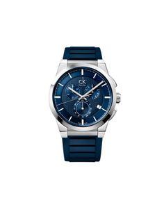 Calvin Klein Round Dial Rubber Strap Watch-For Men #ohnineone #watch #timepiece