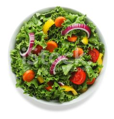 Overhead View of Fresh Salad in a Bowl royalty-free stock photo