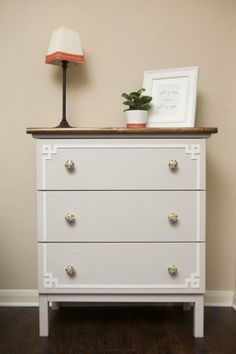 1 IKEA TARVA Dresser, 25 Different Ways   Apartment Therapy - O'verlaid Dresser from IKEA Hackers