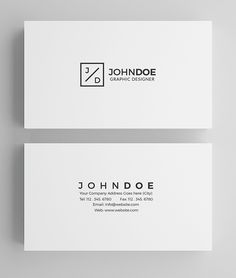 White Modern Business Card