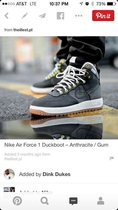 7998c9fad2f Nike Air Force 1 Duckboot – Anthracite   Gum (These pHq look wicked!