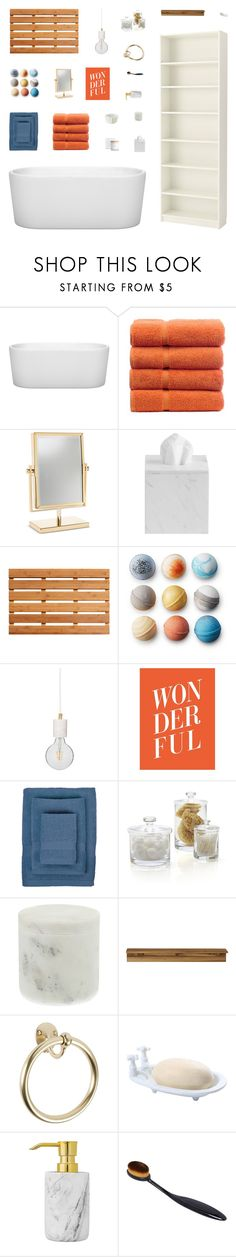 """Retro Bathroom Decor"" by belenloperfido ❤ liked on Polyvore featuring interior, interiors, interior design, home, home decor, interior decorating, Wyndham Collection, ANJI MOUNTAIN, Flamant and IGH"