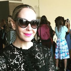 Stunningly chic @alysoncafiero wearing our #limitededition Marilyn's in Noir while viewing the beautiful new #ss16collection by #katieermilio #marilyneyewear #nyfw #fashionweek #gorgeous #chic #love #marilynmonroe #Shopping #Retail #Apparel #instashop #Fashionable #Fashion #Style #Sophistication #Designer #Fashionista #FashionBlogging #Stylish #FashionStyle #Collection #Glam #photooftheday #nyc