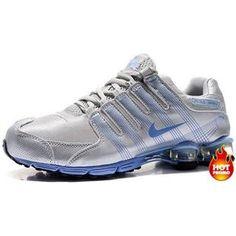 d4c8a1a9b7b Womens Nike Shox R4 Grey Blue Cushion5 Chaussures Nike Pas Cher