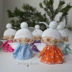 Купить Ангелы Снежные Гирлянда новогодняя Куклы маленькие - подарок на новый год, новогодний интерьер