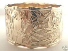 Custom Hawaiian Bracelet Bamboo Design 24mm 14k Gold Ebay I Can Dream T Love This Would Never Take It Off 3