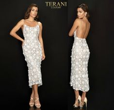 TERANI COUTURE 2011C2013 authentic dress. FREE FEDEX. BEST PRICE   eBay Nice Dresses, Prom Dresses, Formal Dresses, Terani Couture, Lace Flowers, Women Brands, Couture Fashion, Bride Groom, Bridal Shower