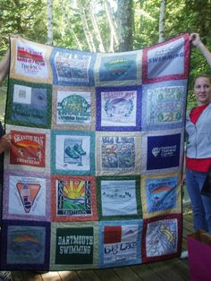 Tshirt Quilt CUSTOM ORDERS 20 squares by BarbMalmTshirtQuilts