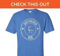 Teesmk Daddysaurus Rex - Dinosaur T Shirt for Dad Father's day cool shirt (Iris;Small) - Holiday and seasonal shirts (*Amazon Partner-Link)