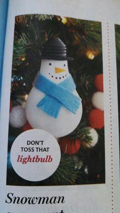 Snowman craft picture