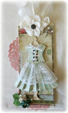 Dress Form Tag by Cathy Mc - Cards and Paper Crafts at Splitcoaststampers