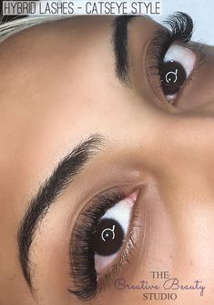 90934b41cd5 Catseye style Hybrid Lashes. A mixture between Russian Volume and singles.  Short lengths to