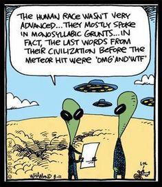 Alien UFO humour OMG