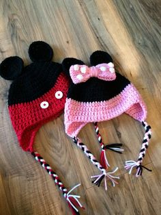 Crochet Minnie Mouse Hat Crochet Mickey Mouse Hat Baby by KKandCo