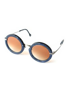 Kapital round sunglasses with a beautiful pattern on the acrylic.