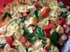 Easy and delicious bow tie pasta salad made with roma tomatoes, fresh mozzarella, and fresh basil leaves would be a welcome dish on a warm summers'night.