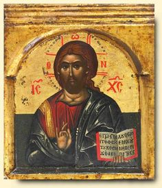 Christ Pantocrator - exhibited at the Temple Gallery, specialists in Russian icons