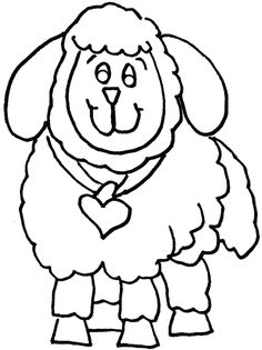 Shaun the Sheep, : Picture of Shaun the Sheep Coloring