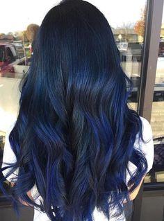 Dark blue and black