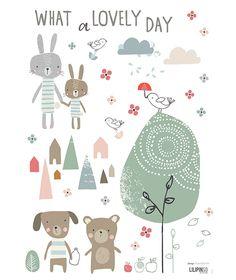Planche de stickers A3 chambre d'enfant et bébé : Lovely day