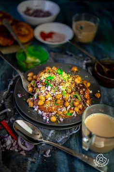 Chole Aloo Tikki Chaat