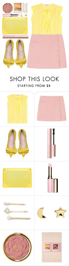 """""""#802 Léa"""" by blueberrylexie ❤ liked on Polyvore featuring Emilio Pucci, Too Faced Cosmetics, MOFE, Clarins, Jules Smith, Erica Weiner, Milani, Polaroid, women's clothing and women"""