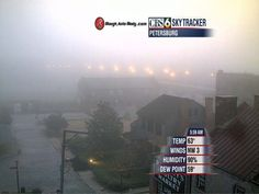 Patchy, shallow fog in Petersburg May 17, 2012