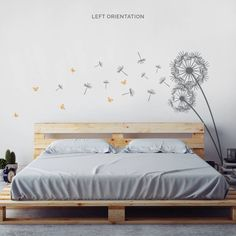 Dandelion And Butterflies Wall Decal Sticker
