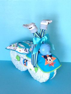 Mickey Mouse Bike Diaper Motorcycle Boy by PamperedBabyCreation