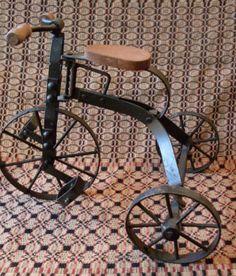 PrimiTive Folkart Vintage Tricycle Bicycle  by TheWAREHOUSEShelf, $45.00