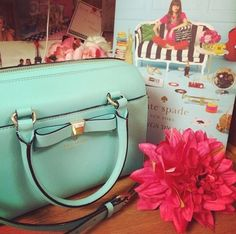 mint green bag by kate spade
