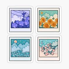 Pegatinas: Polaroid | Redbubble Diy Sticker, Stickers Cool, Tumblr Stickers, Anime Stickers, Kawaii Stickers, Preppy Stickers, Sticker Ideas, Cute Kawaii Drawings, Kawaii Art