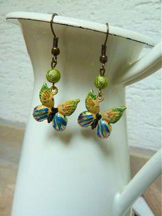 Motýle v žltom by Martinuska - SAShE.sk - Handmade Náušnice