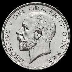 1928 George V Silver Half Crown, A/BU