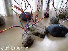Vaderdag / Moederdag. Een kei met twee ijzerdraden eromheen. De ijzerdraden versier je met strijkkralen. De uiteinden buig je om zodat er een kaartje tussen kan. Projects For Kids, Diy For Kids, Crafts For Kids, Camping Crafts, Fun Crafts, Glass Fusion Ideas, Art Activities For Kids, Cute Gifts, Art Lessons