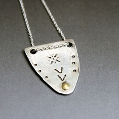 Tribal Shield Necklace by ValerieTyler on Etsy, $55.00