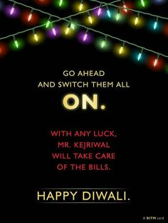 Diwali Card- Bang In The Middle