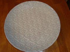Beautiful Sweet Grass Hand Painted N.C. Pottery Large Bowl Fleur de Lis Design #SweetGrass