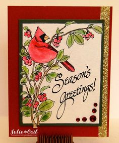 Season's Greetings, with Bling!  for Eureka Stamps