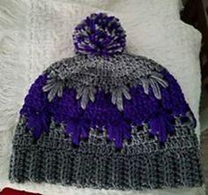 Ravelry: Frozen winter (bun) hat pattern by Wilma Westenberg #bunhat #hat #crochet #pattern #free
