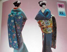 WASHI Paper Doll ISHIGAKI KOMAKO KAMI NINGYO Craft Pattern Book Kimono
