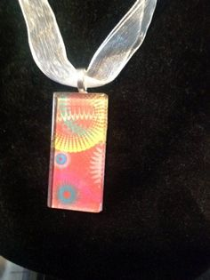 Spring Pendant Colorful Glass by BeaderBubbe on Etsy, $8.00