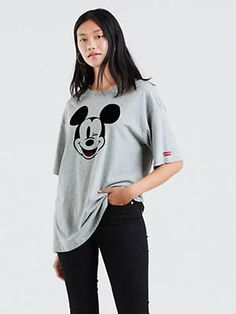 Italy New Collection oversize Shirt Sweatshirt Mickey Mouse G 38 40 42 black Neu